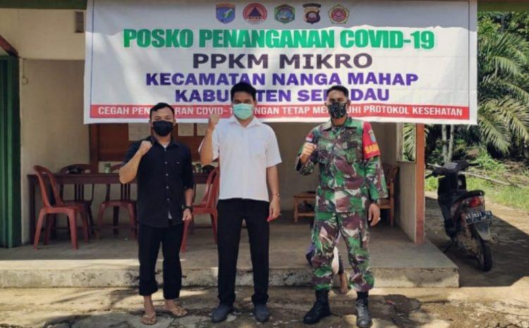 Babinsa Koramil 18/Nanga Hak Henti-henti Melakukan Sosialisasi terkait Protokol Kesehatan
