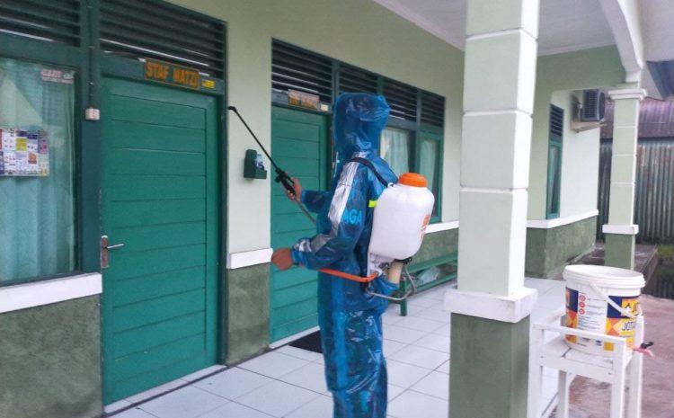 Turut Serta Dalam Pencegahan dan Penanganan Covid-19, Zidam XII Semprot Disinfektan