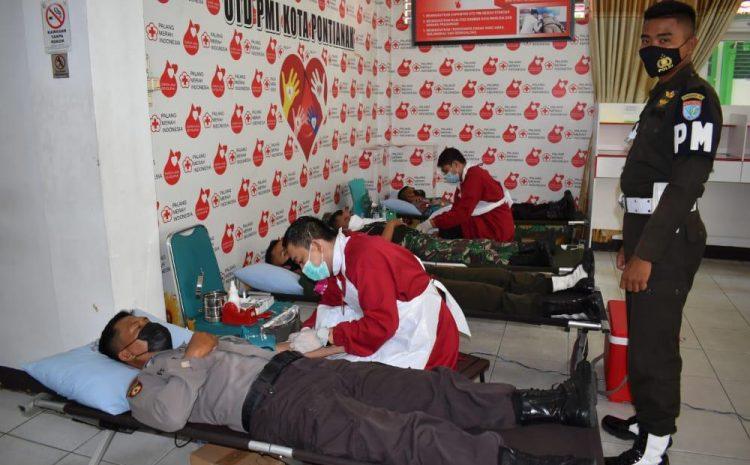 Pomdam XII/Tanjungpura Donor Darah pada masa pandemi Covid 19
