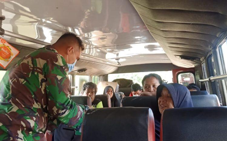 Turut Bagikann Masker Anggota,Zidam XII/Tanjungpura Tekan Angka Penyebaran Virus Covid-19 di Kuburaya