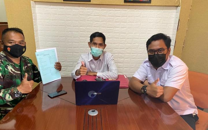 Angga Zidam XII Tanjung Pura, Lakukan Koordinasi bersama BPN