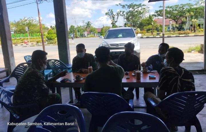 Anggota Zidam Tanjungpura Lakukan Pengawasan Sarana Prasarana TNI AD
